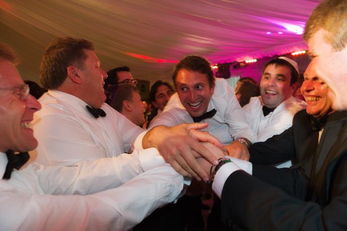 Wedding photograph of Jewish wedding celebrations