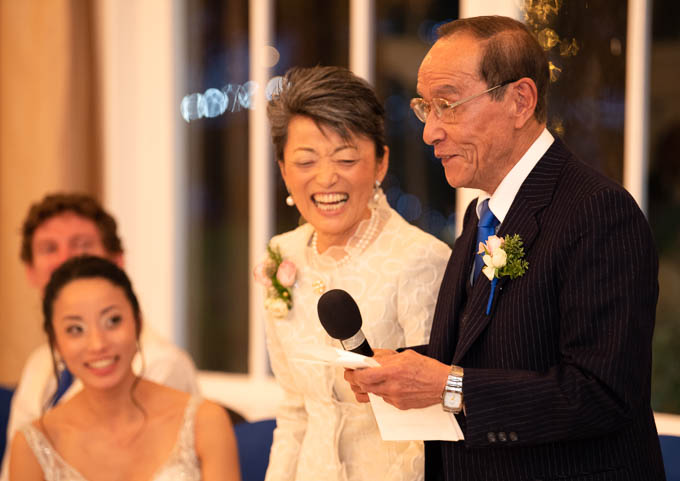 Wedding photography - father of the bride making a speech