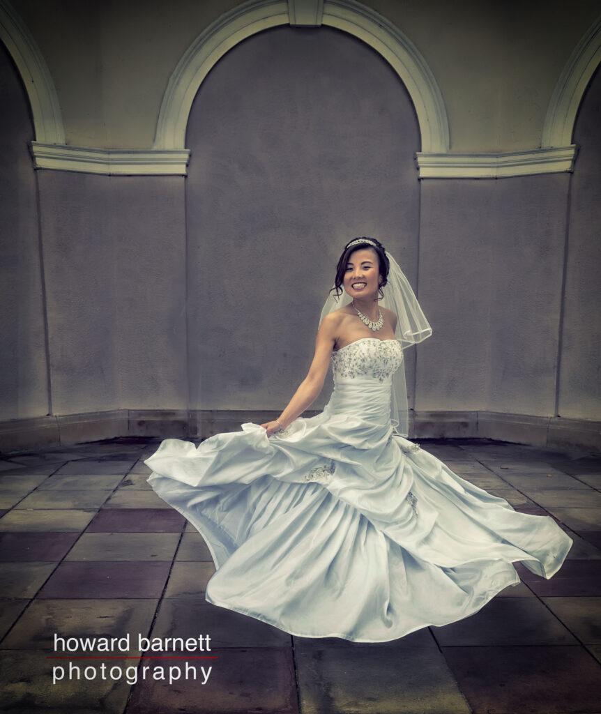 Bridal Photography - bride spinning round and smiling